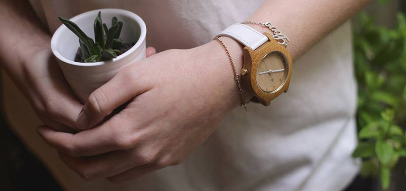 Mam relojes madera mujer