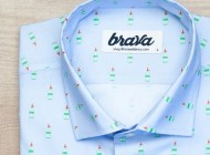 Brava fabrics, camisas estampadas para chicos modernos