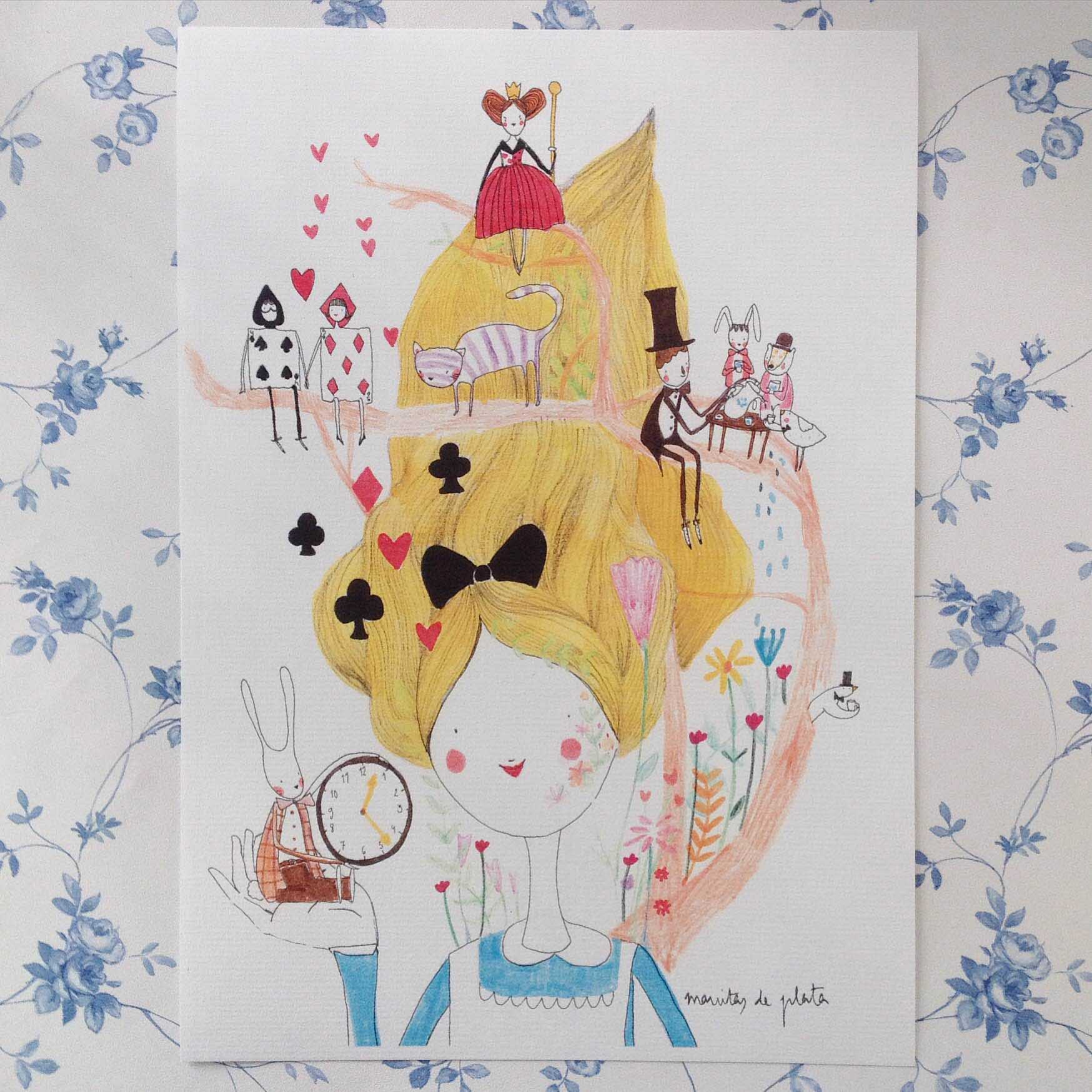ilustracion alicia en el pais de las maravillas