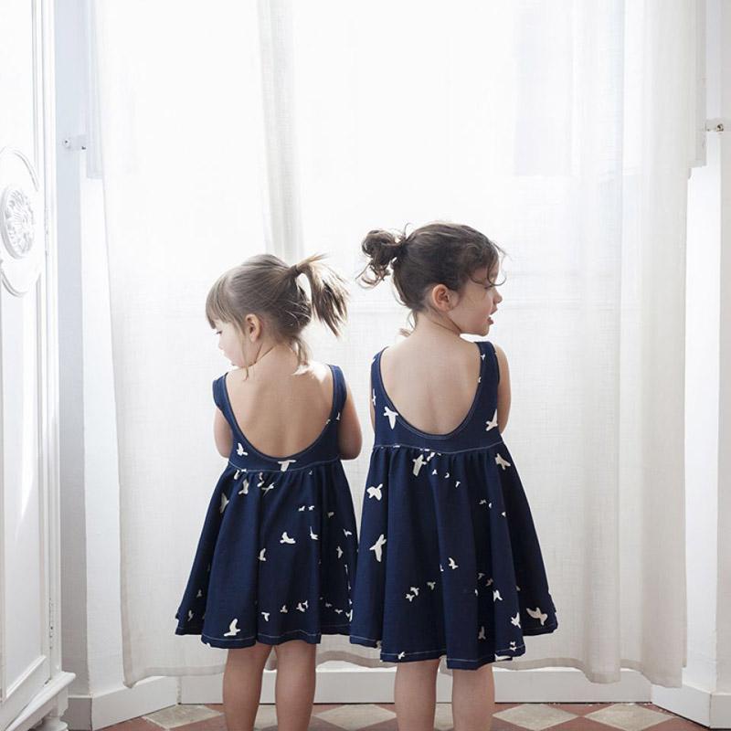 vestido verano azul nina