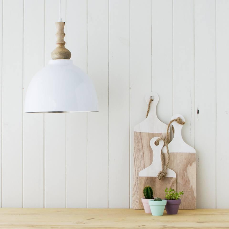 lampara blanca