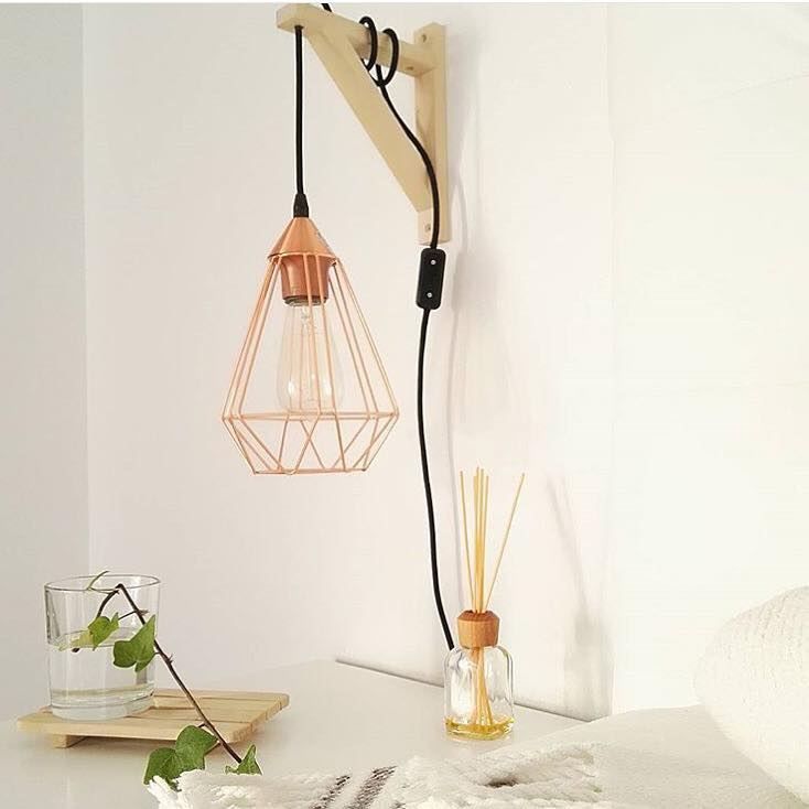 lampara color cobre