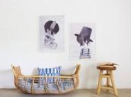 Mrs Mighetto, delicadas ilustraciones para cuartos infantiles en acuarela