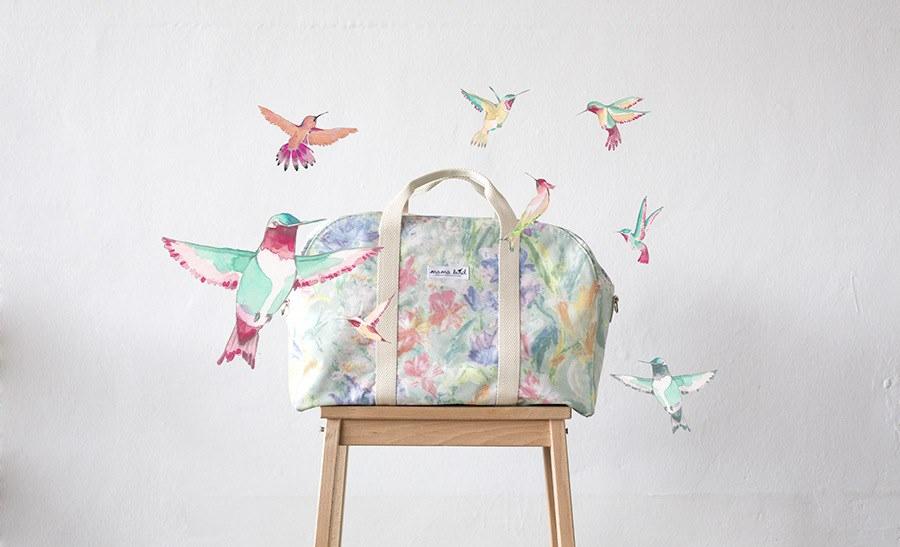 bolsa flores mama bird