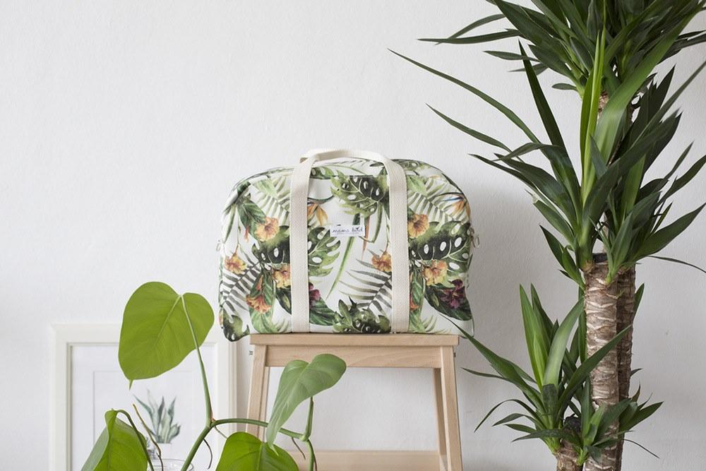 bolsa viaje estampado tropical
