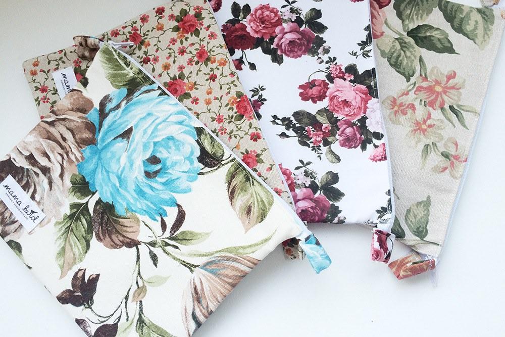 funda ipad flores