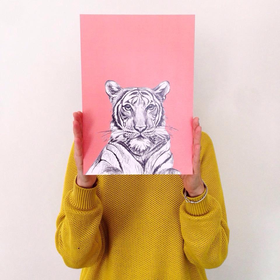 macaroom ilustracion tigre
