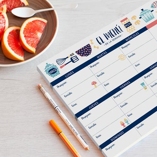 planificador menu semanal charuca