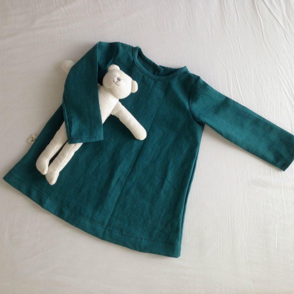vestido-lino-verde-bosque