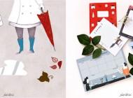 Nuria Díaz: productos ilustrados bonitos para tu escritorio y tu casa