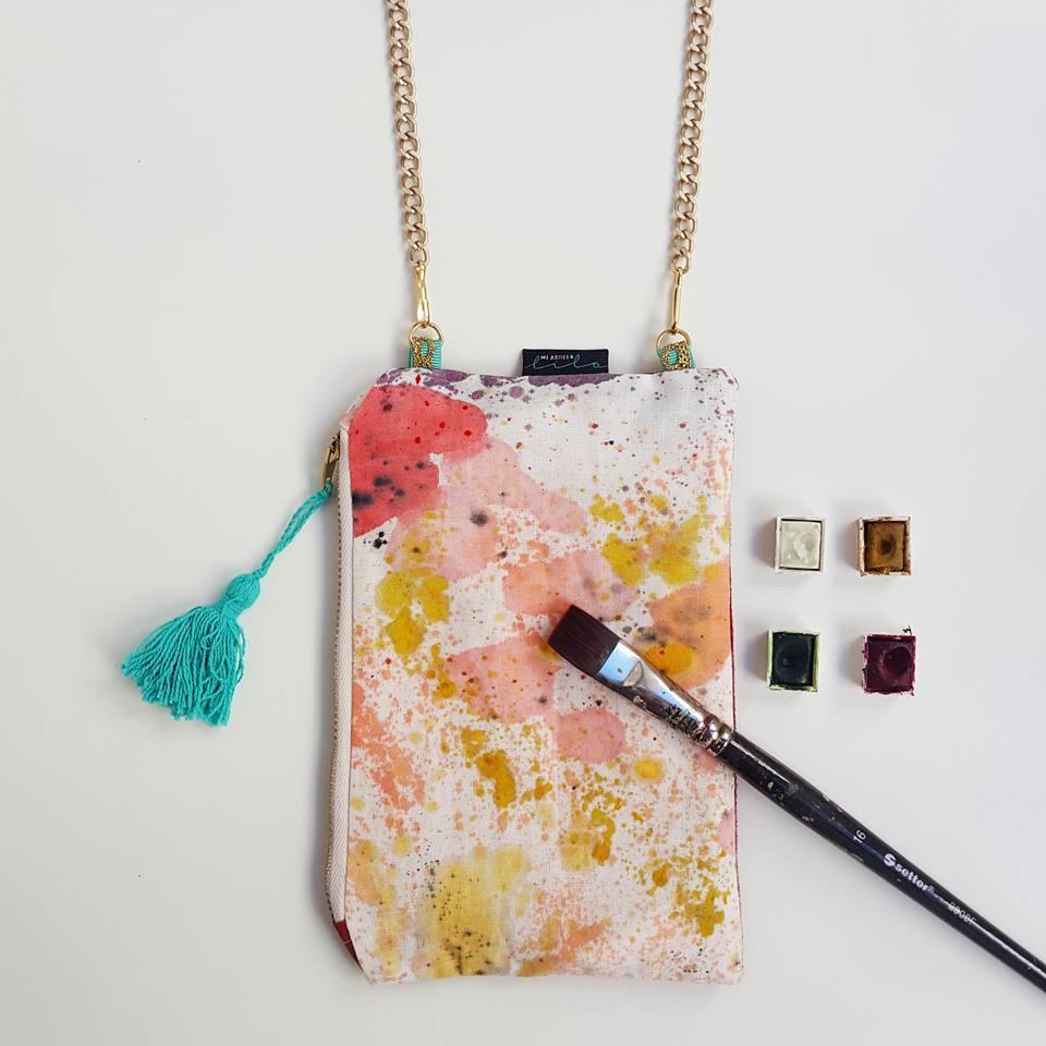 bolso pintado en acuarela