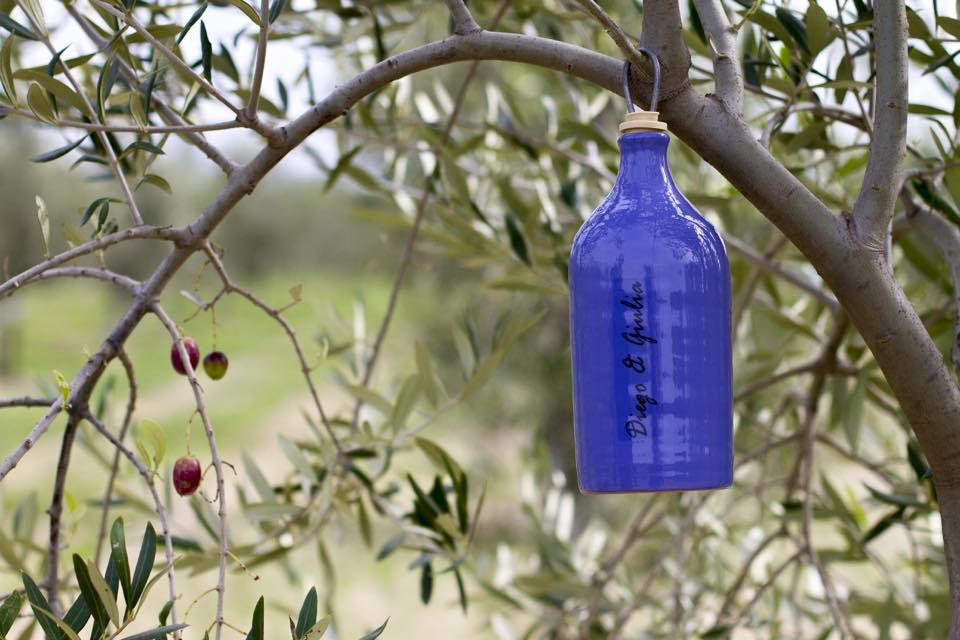 botella aceite ceramica