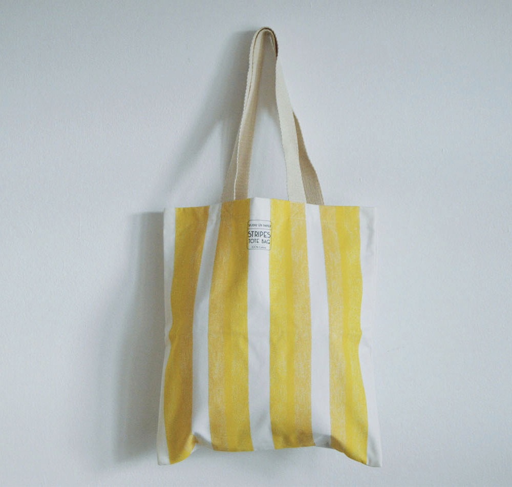 bolsa rayas amarillas studio en papier
