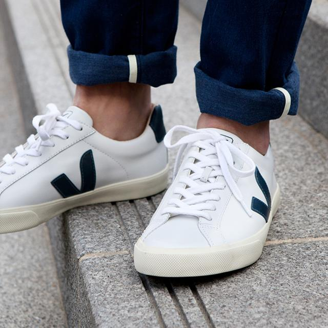 veja esplar leather white nautico